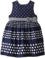 Jo-Jo JoJo Maman Bebe Spot Party Dress (Baby) - Navy-18-24 Months
