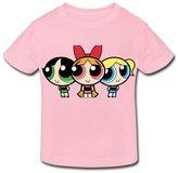 Stabe 2-6 Toddler Tee Age 2-6 Kids Toddler Powerpuff Girls Little Boy's Girl's T Shirts