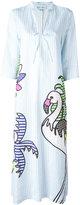 Mira Mikati mixed print shirt dress - women - Linen/Flax - 40
