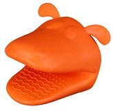 SODIAL(R) Heat-resistant Kitchen Oven Holder BBQ Baking Mitt Glove Tool Silicone Doggy
