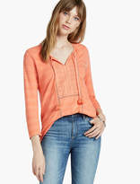 Lucky Brand Shadow Stripe Top