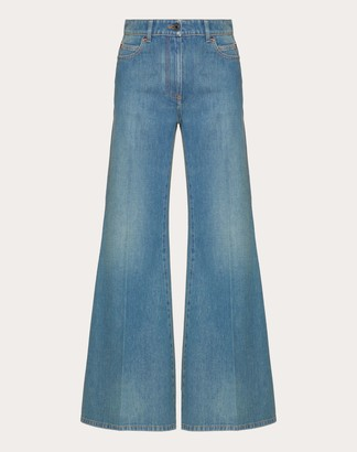 Valentino Vlogo Blue Denim Jeans Women Blue 100% Cotone 30