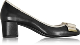 Michael Kors Kiera Black Leather Flex Mid Pump