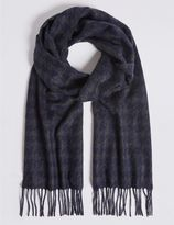 Marks and Spencer Pure Cashmere Dogtooth Woven Scarf