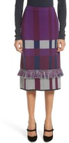 St. John Women's Plaid Jacquard Knit Skirt