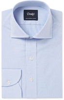 Drakes Drake's - Blue Slim-Fit Bengal-Striped Cotton Shirt