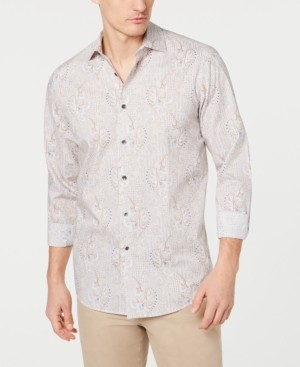 Tasso Elba Men's Stretch Paisley Printed Shirt, Created for Macy's