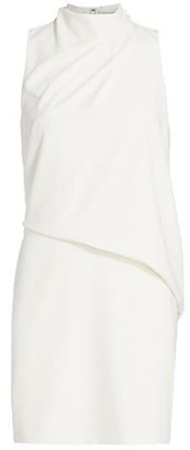 Halston Draped Sleeveless Mini Dress