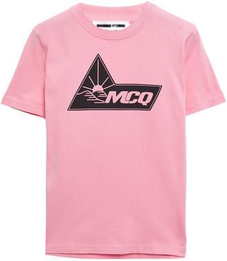 McQ Printed Cotton-jersey T-shirt