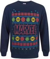 Marvel Logo Christmas Sweatshirt (XXL)