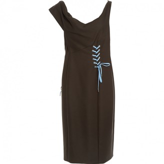 Christian Dior Khaki Wool Dresses