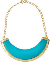 Kenneth Jay Lane Polished Golden Turquoise-Hue Bib Necklace