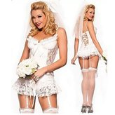 S.MILE Smlie rope sexy lingerie white lace bridal wear wedding suit