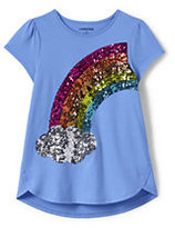 Lands' End Little Girls Aline Embellished Graphic Knit Tee-Ice Cream Cone