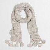 J.Crew Factory Flecked tassel scarf