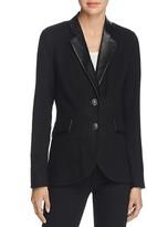 Foxcroft Faux Leather Trim Blazer