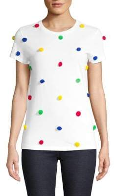 HBC Hudson's Bay Company x Color Me Courtney Pom-Pom Cotton Tee