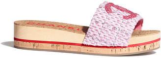 Chanel Cork Wooded Flatform Slide