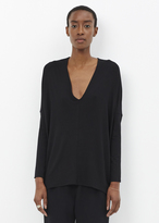 Zero Maria Cornejo Black Long Sleeve Koya Top