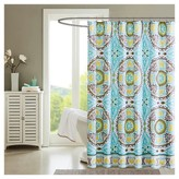 "Nobrand No Brand Keya Printed Shower Curtain - Aqua (72""x72"")"