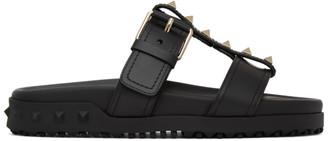 Valentino Black Garavani Rockstud Sandals