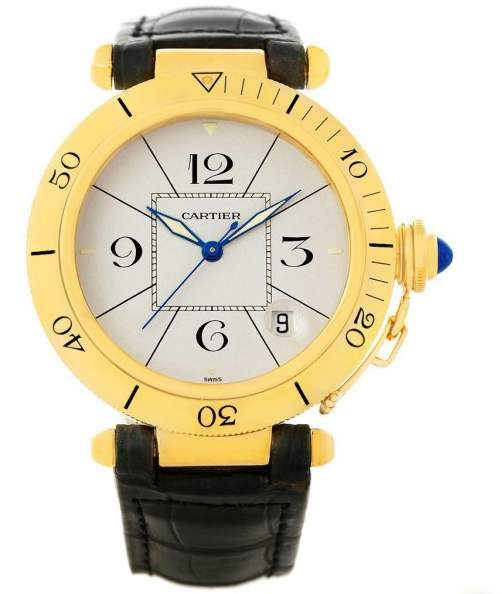 Cartier Pasha 18K Yellow Gold Automatic 38mm Mens Watch