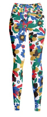 Jessie Zhao New York High Waist Yoga Leggings In Colorful World
