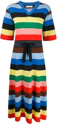 Parker Chinti & striped knitted dress
