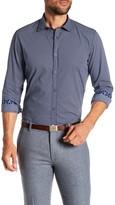 Ganesh Geo Print Modern Fit Spread Collar Shirt