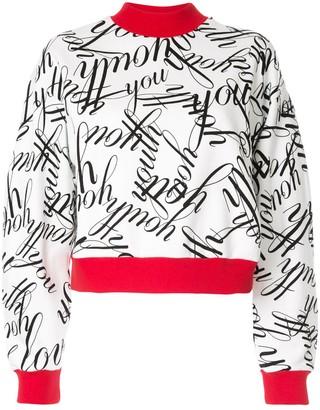 MSGM Youth printed sweatshirt
