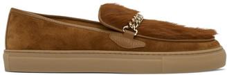 Human Recreational Services Brown Suede El Dorado Low-Top Sneakers