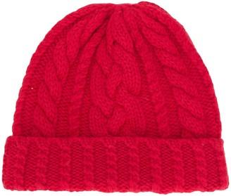 Ami Paris Cable Knit Beanie