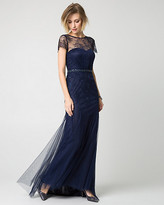 Le Château Embellished Lace Illusion Gown