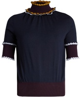 Roksanda Ifeild scallop-edged roll-neck wool sweater