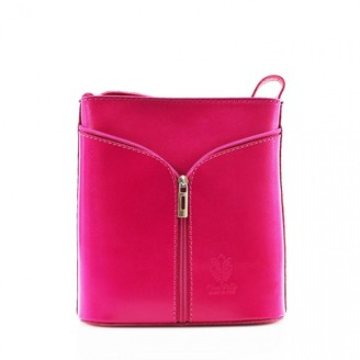 3m Ladies Women's Fashion Designer Small Quality Italian Leather Cross Body Bag CWV0026 (FUCHSIA H20cm x W18cm x D7cm)