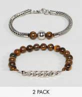 Aldo Beaded Bracelets In 2 Pack