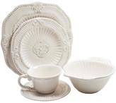 One Kings Lane 20-Pc Baroque Dinnerware Set - white