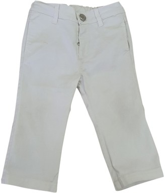 Fendi White Cotton Trousers