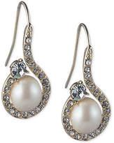 Carolee Caroloee Gold-Tone Imitation Pearl & Crystal Swirl Drop Earrings