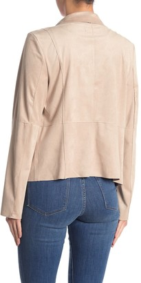 Bagatelle Draped Faux Suede Jacket