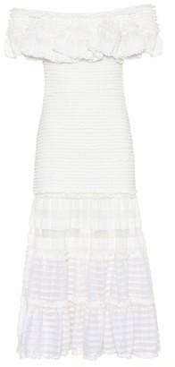 Jonathan Simkhai Striped off-the-shoulder dress