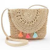 Girls 4-16 Crochet Tassel Crossbody Bag