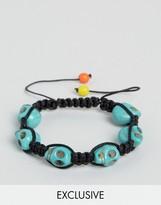 Reclaimed Vintage Inspired Skull Bracelet