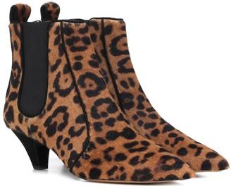 Tabitha Simmons Effie leopard calfskin ankle boots