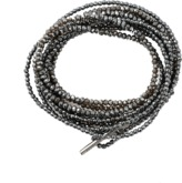 Brunello Cucinelli Hematite Glass Necklace And Bracelet