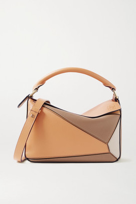 Loewe Puzzle Small Color-block Leather Shoulder Bag - Sand