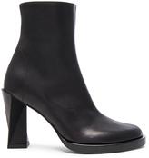 Ann Demeulemeester Leather Twist Heel Boots