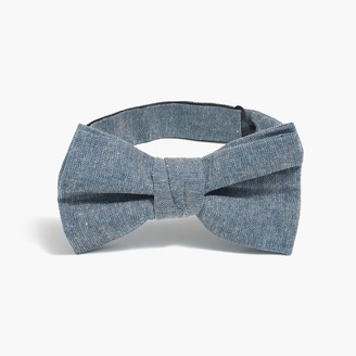 J.Crew Pre-tied chambray bow tie