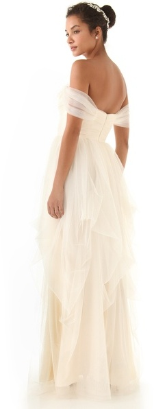 Love, yu Off Shoulder Tulle Gown