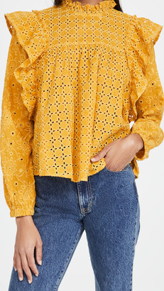 Scotch & Soda Cotton Broderie Anglaise Top